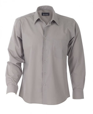 identitee-Identitee Mens Rodeo Long Sleeve-Taupe / S-Uniform Wholesalers - 8