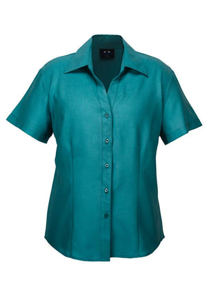 Biz Collection-Biz Collection Ladies Plain Oasis Shirt-S/S-Teal / 6-Uniform Wholesalers - 9
