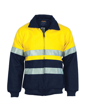DNC HiVis Two Tone Bluey Bomber Jacket with CSR R/Tape (3859)
