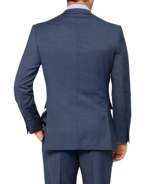 Van Heusen Blue Wool Blend 2 Button Single Breasted Suit Jacket (VSJ930)