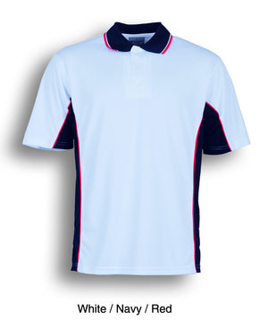 Bocini-Bocini Kids Breezeway Panel Polo(2nd 9 colors)-White/Navy/Red / 4-Uniform Wholesalers - 10