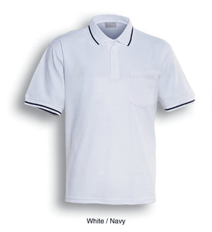Bocini-Bocini Pocket Polo-White/Navy / S-Uniform Wholesalers - 4