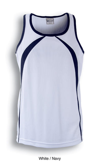 Bocini-Bocini Men's Breezeway Singlet-White/Navy / S-Uniform Wholesalers - 5