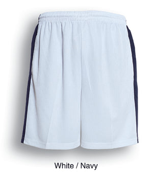 Bocini-Bocini Adults Soccer Shorts-White/Navy / S-Uniform Wholesalers - 7