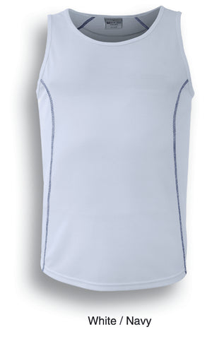 Bocini-Bocini Kids Stitch Essentials Singlet-White/Navy / 6-Uniform Wholesalers - 9