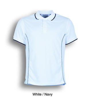 Bocini-Bocini Men's Short Sleeve Polo(2nd 11 colors)-White/Navy / S-Uniform Wholesalers - 10