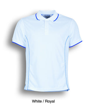 Bocini-Bocini Men's Short Sleeve Polo(2nd 11 colors)-White/Royal / S-Uniform Wholesalers - 11