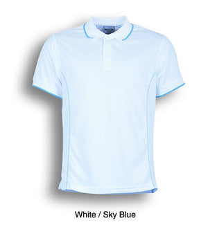 Bocini-Bocini Men's Short Sleeve Polo(2nd 11 colors)-White/Sky Blue / S-Uniform Wholesalers - 12