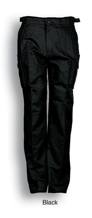 Bocini-Bocini Cotton Work Pants with Utility Pockets-Black / 87S-Uniform Wholesalers - 2