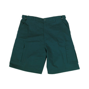 Bocini-Bocini Cotton Drill Cargo Shorts-Bottle Green / 77R-Uniform Wholesalers - 3