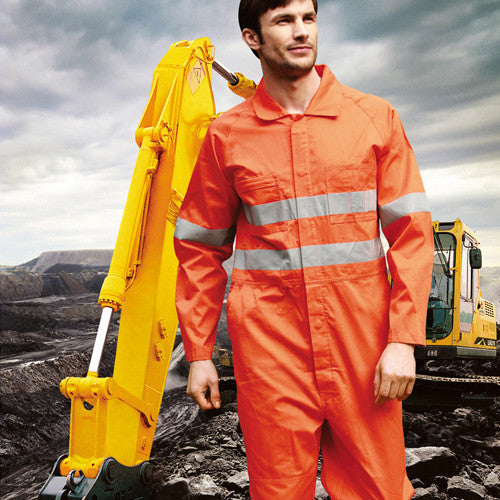 Bocini Hi-Vis Overalls With X Tape-(WO0683)