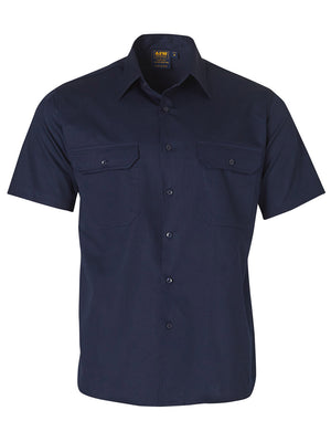Winning Spirit Cool-Breeze Short Sleeve Cotton Work Shirt-(WT01)