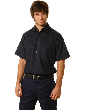Winning Spirit-Winning Spirit Cotton Drill Short Sleeve Work Shirt--Uniform Wholesalers - 1