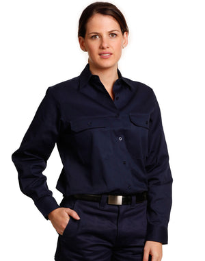 Winning Spirit Womens Cotton Drill Shirt-(WT08)