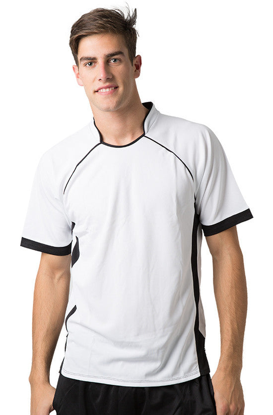 Be Seen-Be Seen Men's Polo Shirt With Pique Knit Body And Contrast 2nd( 7 Color )-White-Black / XS-Uniform Wholesalers - 6