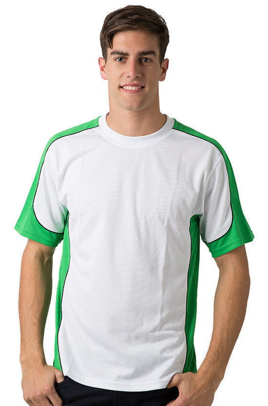 Be Seen-Be Seen Men's Short Sleeve T-shirt With Contrast 2nd( 7 Color )-White-Emerald-Black / XS-Uniform Wholesalers - 7