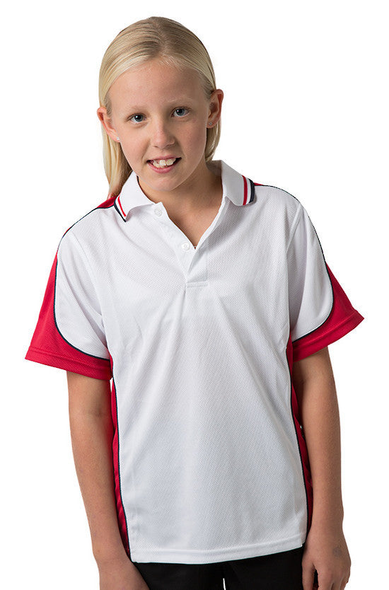 Be Seen-Be Seen Kids Polo Shirt With Striped Collar 5th( 12 White Color )-White-Red-Navy / 6-Uniform Wholesalers - 10