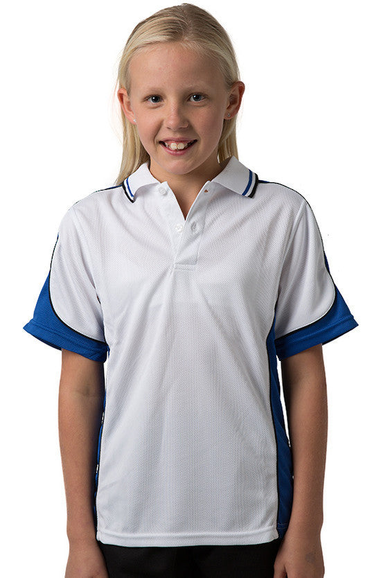 Be Seen-Be Seen Kids Polo Shirt With Striped Collar 5th( 12 White Color )-White-Royal-Black / 6-Uniform Wholesalers - 11