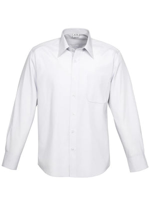Biz Collection-Biz Collection Mens Ambassador Long Sleeve Shirt-White / S-Uniform Wholesalers - 5
