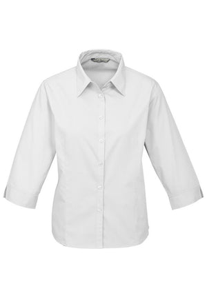 Biz Collection-Biz Collection Ladies Base 3/4 Sleeve Shirt-White / 6-Uniform Wholesalers - 4