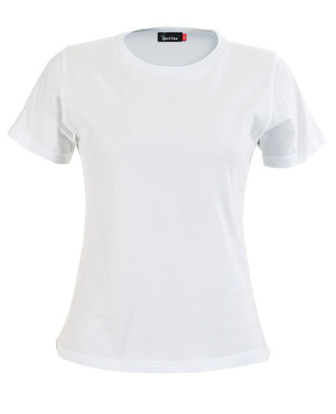 identitee-identitee Ladies Soho -Semi-Fitted Crew T-Shirt-White / 8-Uniform Wholesalers - 5