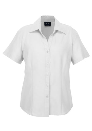Biz Collection-Biz Collection Ladies Plain Oasis Shirt-S/S-White / 6-Uniform Wholesalers - 10