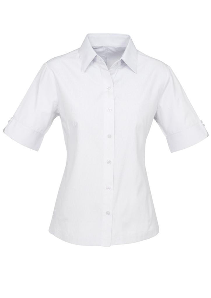 Biz Collection-Biz Collection Ladies Ambassador Shirt-3/4 Sleeve-White / 6-Uniform Wholesalers - 5