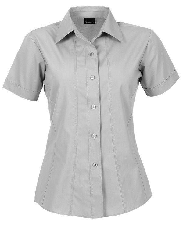 identitee-Identitee Ladies Aston Short Sleeve-White / 8-Uniform Wholesalers - 7