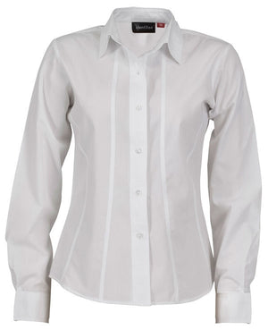 identitee-Identitee Ladies Aston Long Sleeve-White / 8-Uniform Wholesalers - 7