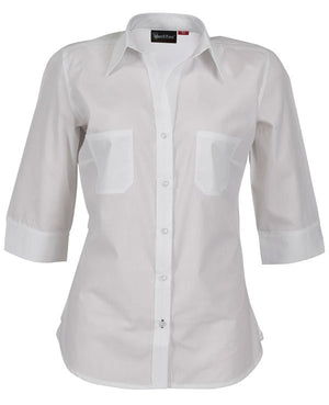 identitee-Identitee Ladies Harley 3/4 Sleeve-White / 8-Uniform Wholesalers - 8
