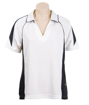 Australian Spirit-Aus Spirt Olympikool Ladies Polo 3rd ( 5 Colour )-White / Navy / 8-Uniform Wholesalers - 5