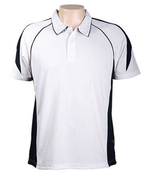 Australian Spirit-Aus Spirt Olympikool Mens Polo 1st ( 10 Colour )-White / Navy / S-Uniform Wholesalers - 2