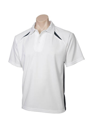 Biz Collection-Biz Collection  Mens Splice Polo 1st ( 10 Colour )-White / Navy / Small-Uniform Wholesalers - 11