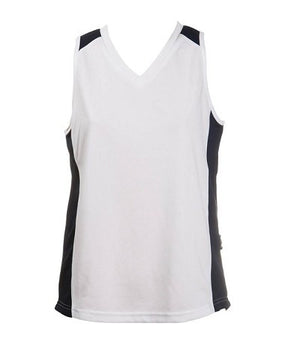Australian Spirit-Aus Spirt Olympikool Ladies Singlet 2nd ( 9 Colour )-White / Navy / 8-Uniform Wholesalers - 10