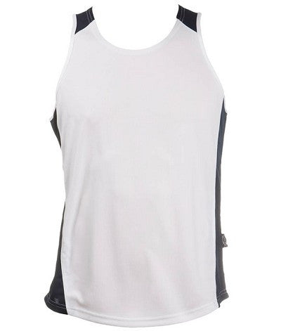 Australian Spirit-Aus Spirt Olympikool Mens Singlets 2nd ( 8 Colour )-White/Navy / S-Uniform Wholesalers - 9