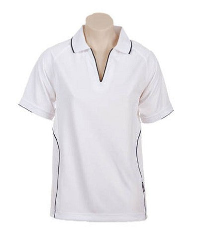 Australian Spirit-Aus Spirt Senator Lady Polo 2nd ( 4 Colour )-8 / White/Navy-Uniform Wholesalers - 5