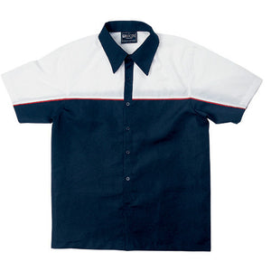 Bocini-Bocini Men's Motor Shirt-Navy/White / S-Uniform Wholesalers - 5