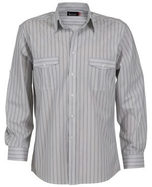 identitee-Identitee Mens Cassidy Long Sleeve(New Style)-White/Steel Grey / S-Uniform Wholesalers - 2