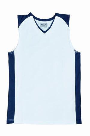 Bocini-Bocini Kid's Basketball Singlet-White/Navy / 6-Uniform Wholesalers - 6