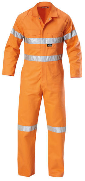 Hard Yakka-Hard Yakka Hi-visibility Cotton Drill Coverall With 3m Tape-Safety Orange / 82R-Uniform Wholesalers - 2