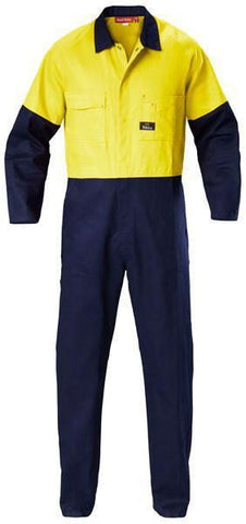 Hard Yakka  Hi-visibility Two Tone Cotton Drill Coverall (Y00270)
