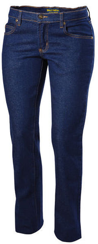 Hard Yakka-Hard Yakka Women's Stretch Denim Jean 14 1/2 Oz-Navy / 8-Uniform Wholesalers