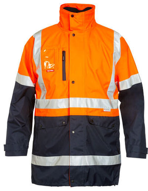 Hard Yakka-Hard Yakka - 4 In 1 Jacket-Orange/navy / XS-Uniform Wholesalers - 1