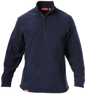 Hard Yakka-Hard Yakka Polar Fleece 1/4 Zip Jumper-Navy / S-Uniform Wholesalers