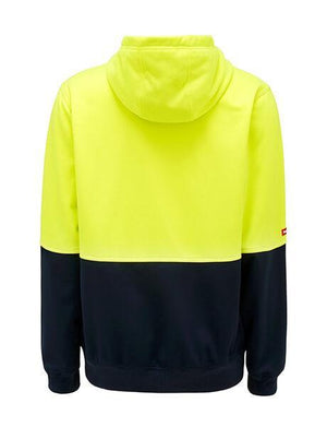 Hard Yakka Hi Vis 2Tone Brushed Fleece Full Zip Hoodie (Y19320)