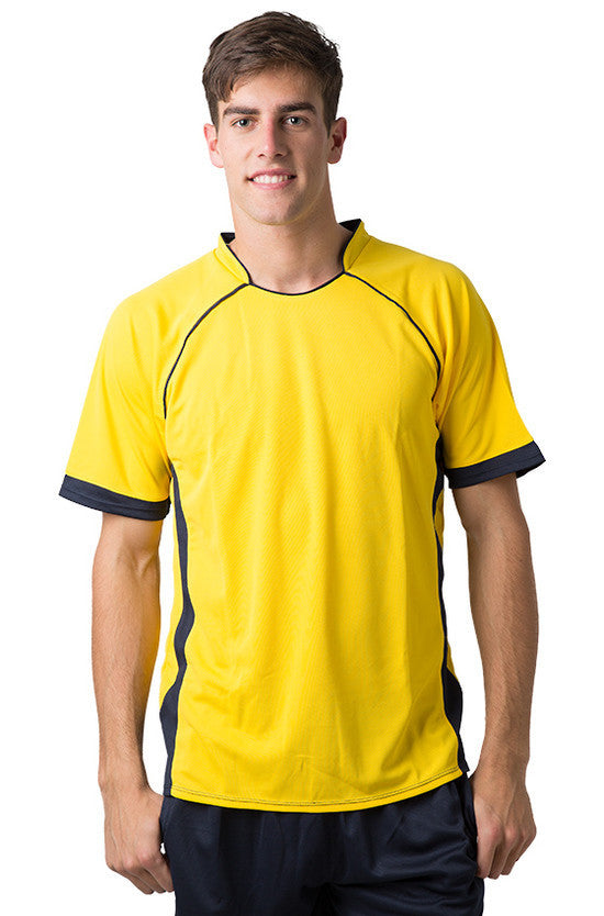 Be Seen-Be Seen Men's Polo Shirt With Pique Knit Body And Contrast 2nd( 7 Color )-Yellow-Navy / XS-Uniform Wholesalers - 8