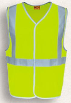 Bocini-Bocini Hi-Vis Vest with X Patten Reflective Tape-Yellow / S-Uniform Wholesalers - 3