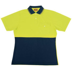 Bocini-Bocini Ladies Hi-Vis Safety Polo-Yellow/Navy / 8-Uniform Wholesalers - 3
