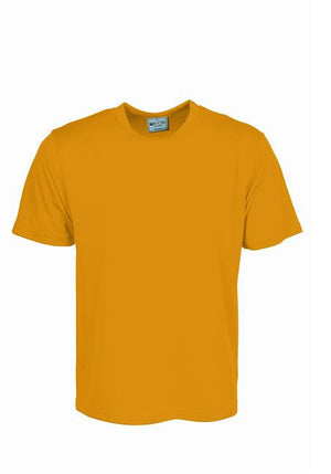 Bocini-Bocini Adults Plain Breezeway Micromesh Tee Shirt 1st (14 Colour)-Yellow / S-Uniform Wholesalers - 6