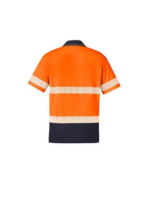 Syzmik Unisex Hi Vis Segmented S/S Polo - Hoop Taped (ZH535)